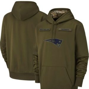 Men's New england patriots Olive Salute to Service